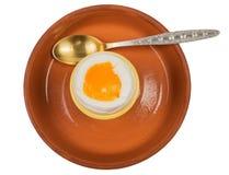Ei voor ontbijt wordt gekookt dat Stock Foto