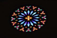 Ei-vormig gebrandschilderd glasvenster Royalty-vrije Stock Afbeelding