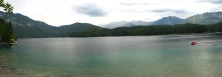 Eibensee Lake. Beautiful Eibensee Lake in Bavaria Germany stock photo