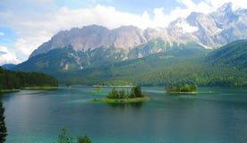 Eibensee Lake. Beautiful Eibensee Lake in Bavaria Germany royalty free stock image