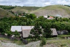 Eibenthal village in the mountainous countryside of Banat Stock Photo