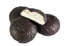 Eibische in der Schokolade und halbes Lizenzfreie Stockbilder