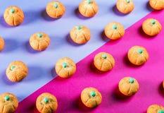 Eibische in Form eines Kürbises für den Feiertag Halloween lizenzfreie stockfotografie