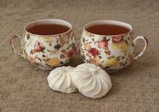 Eibische zwei Tasse Tee Stockbilder