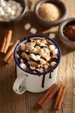 EIBISCHzimt-Wintergetränk der heißen Schokolade s-` Sitten Mini stockfotografie