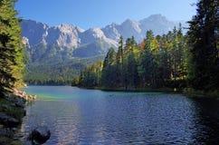 Eibsee湖 免版税库存图片