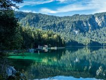 Eibsee Bavaria Germany Europe beautiful landscape. Germany beautiful landscape is always worth a visit Royalty Free Stock Images