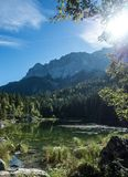 Eibsee Bavaria Germany Europe beautiful landscape. Germany beautiful landscape is always worth a visit Royalty Free Stock Image