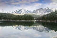 Eibsee en hiver Photographie stock libre de droits