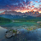 Eibsee Royalty Free Stock Image
