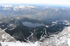 Eibsee - il lago di Zugspitze Fotografie Stock