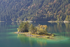 Eibsee island Stock Photography
