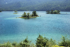 Eibsee Islands Royalty Free Stock Photos