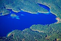 Eibsee jezioro Zdjęcie Stock