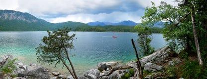 Eibsee Lake, Bavaria, Germany royalty free stock photo