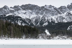 Eibsee lake in winter Stock Photo