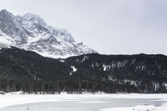 Eibsee lake in winter Stock Image