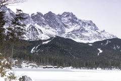 Eibsee lake in winter Royalty Free Stock Photos