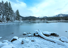 Eibsee lake winter view. Stock Photography