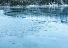 Eibsee lake winter view. Stock Image