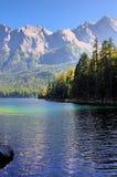 Eibsee lake in german Alps Royalty Free Stock Image