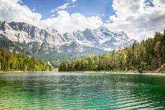 Eibsee Zugspitze fotos de archivo libres de regalías