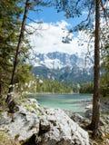 Eibsee Zugspitze fotografía de archivo libre de regalías