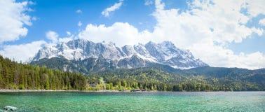 Eibsee Zugspitze Στοκ εικόνα με δικαίωμα ελεύθερης χρήσης
