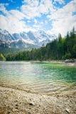 Eibsee Zugspitze imagen de archivo libre de regalías