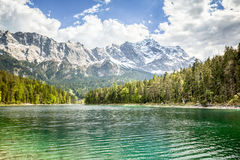 Eibsee Zugspitze Royalty Free Stock Photos