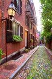 Eichelstraße Beacon Hill-Kopfstein Boston Lizenzfreie Stockfotografie