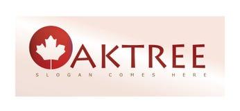 Eichen-Blatt oder Baum Logo Concept Lizenzfreie Stockfotos