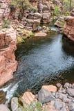 Eichen-Nebenfluss im Plättchen-Felsen-Nationalpark Stockfotografie