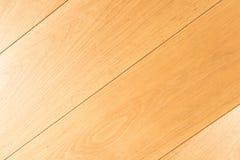 Eichenholzfußboden-Parkettdetail - legen Sie den Bodenbelag, diagonal Stockbilder