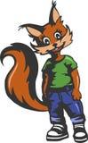 Eichhörnchen in der modernen Kleidung stock abbildung