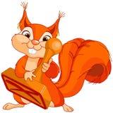 Eichhörnchen mit Stempel Lizenzfreie Stockfotografie