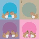 Eichhörnchen omg Geschichtenkarte Stockfotografie