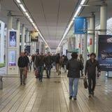 EICMA的人们2014年在米兰,意大利 免版税库存照片