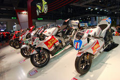 Eicma 2008: international cycle and motorcycle Royalty Free Stock Photos