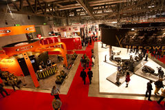 EICMA 2010 - Above view Royalty Free Stock Image