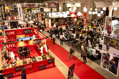 EICMA 2010 - Above view. MILAN, NOVEMBER 3: Above view of EICMA, 68th International Bicycle and motorcycle Exhibition in Milan Fair, November 2nd - 7th, 2010 Royalty Free Stock Image
