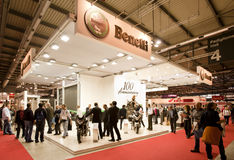 EICMA 2010 - Benelli Stand. MILAN, NOVEMBER 3: Benelli Stand at EICMA, 68th International Bicycle and motorcycle Exhibition in Milan Fair, November 2nd - 7th Stock Photos