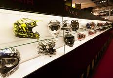 EICMA 2010 - de Helmen van de Schorpioen Stock Foto's