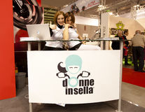 EICMA 2010 - Donne in sella Stock Photos