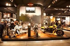 EICMA 2010 - Harley Davidson Stock Photos