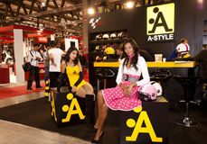 EICMA 2010 - Stand d'Un-Type Image stock