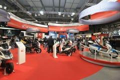 Eicma 2011, exposição internacional da motocicleta fotografia de stock