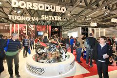 Eicma 2011, international motorcycle exhibition Stock Images