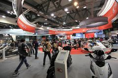 Eicma 2011, international motorcycle exhibition Royalty Free Stock Image