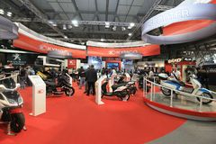 Eicma 2011, international motorcycle exhibition Stock Photography